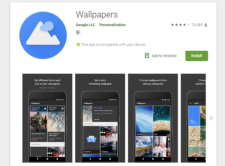 Google's Wallpaper application has received 100 million downloads on the Google Play Store, joining the list of Google apps that have received millions of ...