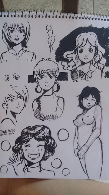 dibujos en tinta china