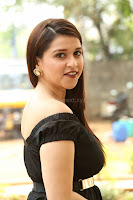 Mannara Chopra in Short Off Shoulder Black Dress ~  Exclusive 035.JPG