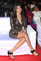 Pooja Hegde looks glamarous in deep neck sleevless short tight golden gown at Duvvada Jagannadham thank you meet function 055.JPG