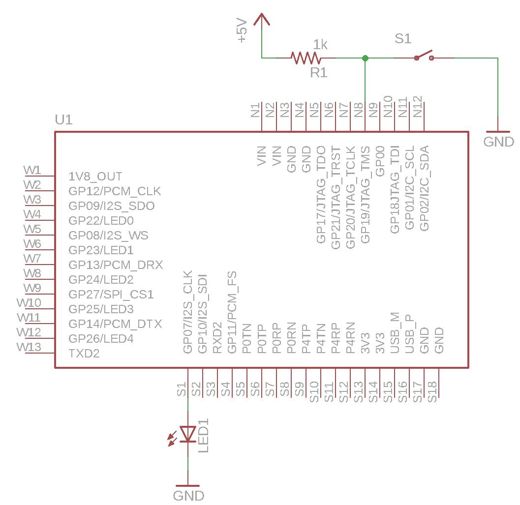 Vocore v  1 0 tutorial: blinking an LED, using software SPI