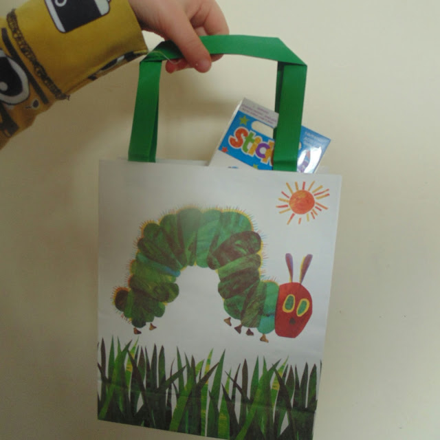 The very hungry caterpillar party bag