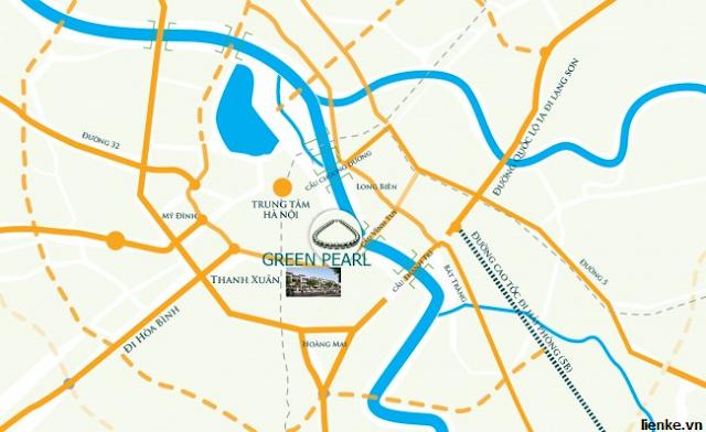 Vị trí dự án chung cư Green Pearl