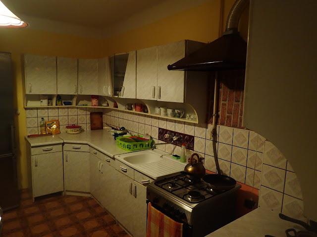 Tomaszów Lubelski, kuchnia (w miejscu naszego noclegu)