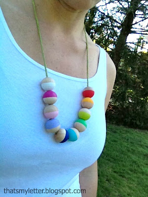 wood bead necklace for Mother's Day