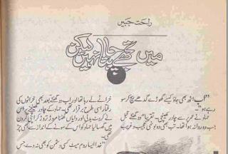 Main tujhy chahta nahi hoon lekin novel by Rahat Jabeen