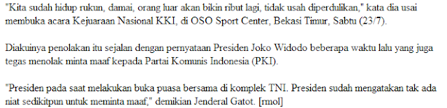 Mantap ! Panglima TNI Meminta Rakyat Indonesia Agar Acuhkan Keputusan IPT Yang Menuntut Bangsa Indonesia Agar Minta Maaf Ke PKI - Commando