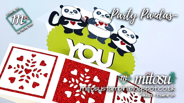 Stampin' Up! Party Pandas Pop Up Card order from Mitosu Crafts UK Online Shop
