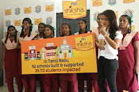 Actress Priya Anand in T Shirt with Students of Shiksha Movement Events 32.jpg