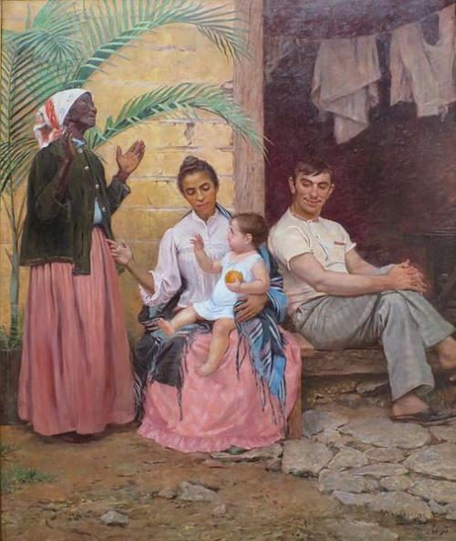 A Redenção de Cam, pintura de Modesto Brocos. #PraCegoVer