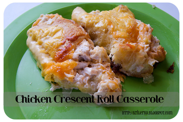 CHICKEN CRESCENT ROLL CASSEROLE recipe