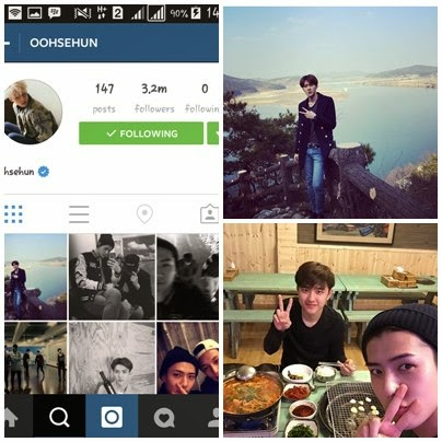 foto instagram sehun exo