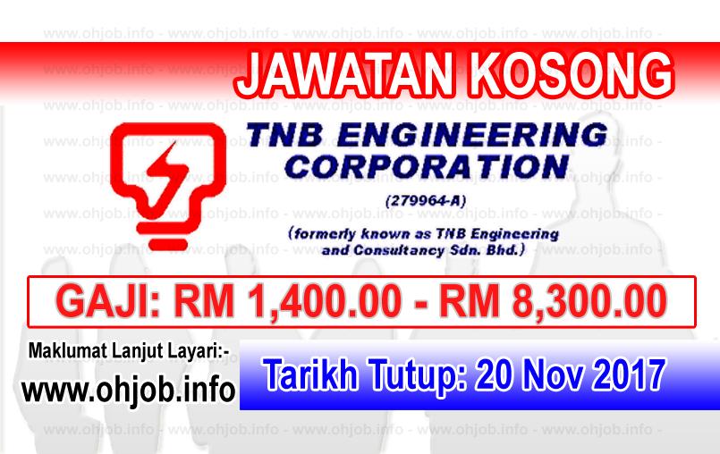 Jawatan Kerja Kosong TNEC - TNB Engineering Corporation logo www.ohjob.info november 2017