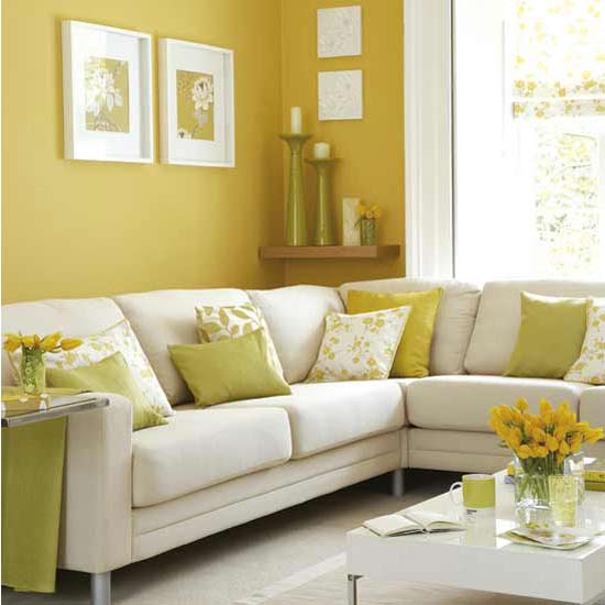 Cortinas Blancas Con Rayas Verdes Fotos De Salas Color Amarillo | Ideas Para Decorar
