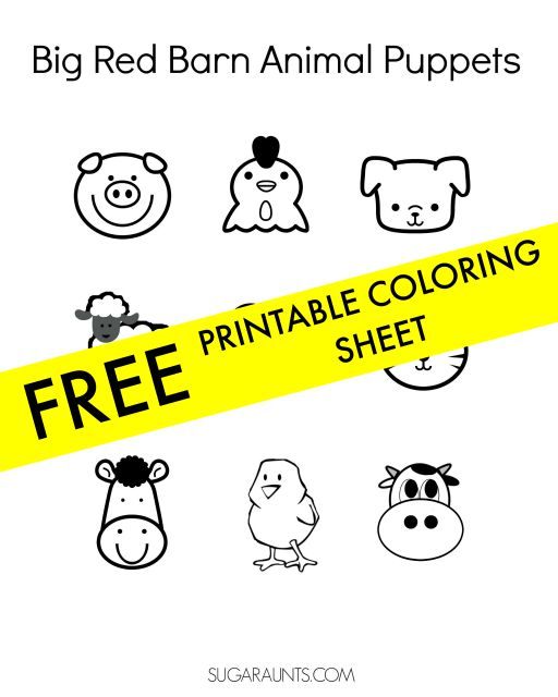 Farm animals coloring sheet free printable