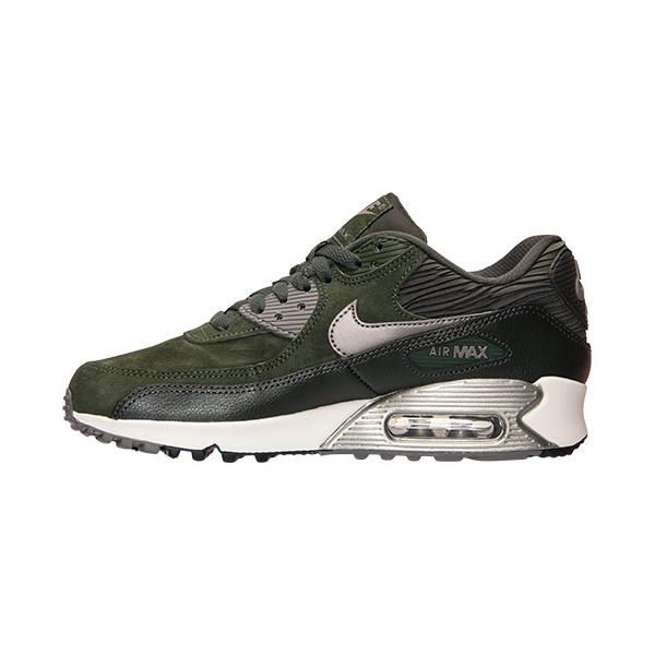 fd2417c42b Nike Womens Air Max 90 Leather. Carbon Green, Sequoia, Sail, Metallic  Pewter. 768887-301