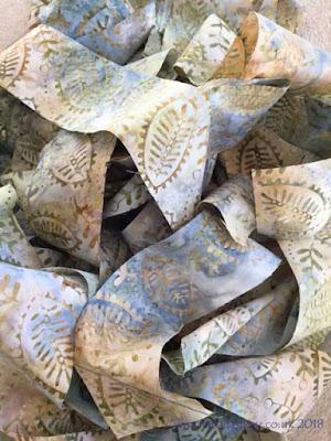 Batik fabric for binding a quilt