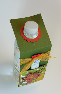 Water Bottle Decoration made with Botanical Blooms Dies and Paper
