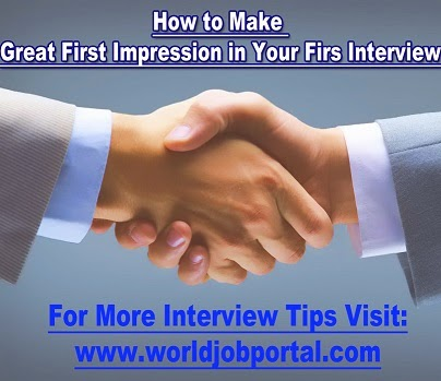 World Job Portal General Interview Tips - first interview tips
