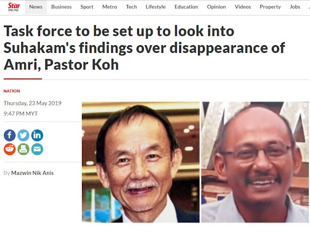 First Suhakam Committee (2 years), Then Task Force (also 2 years??), Then Cabinet Committee (another 2 years??), Then Special Investigator, Then You Can All Drop Dead . .