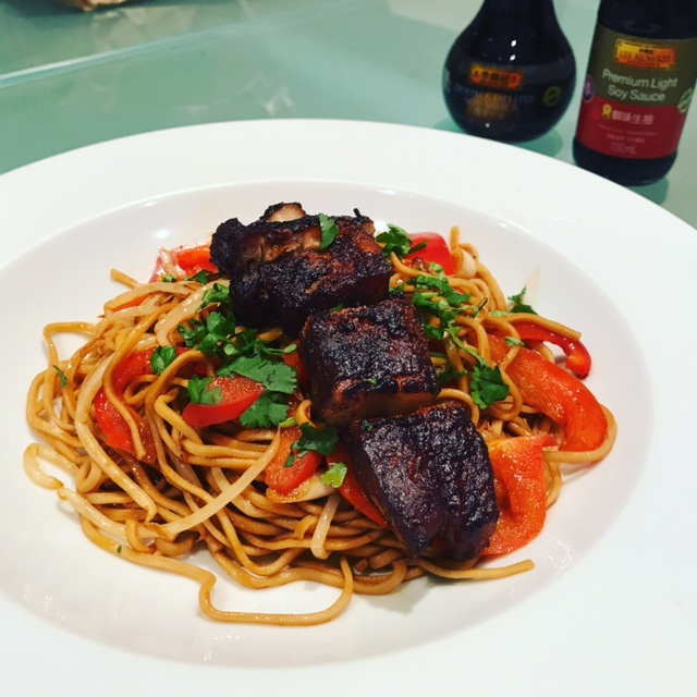 BBQ Belly Pork with Noodles