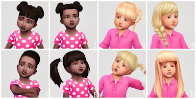 My Sims 4 Blog Toddler Hair Recolors By Luckybabyshell