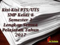 Kisi-Kisi PTS/UTS SMP Kelas 8 Semester 1 Lengkap Semua Pelajaran Tahun 2017