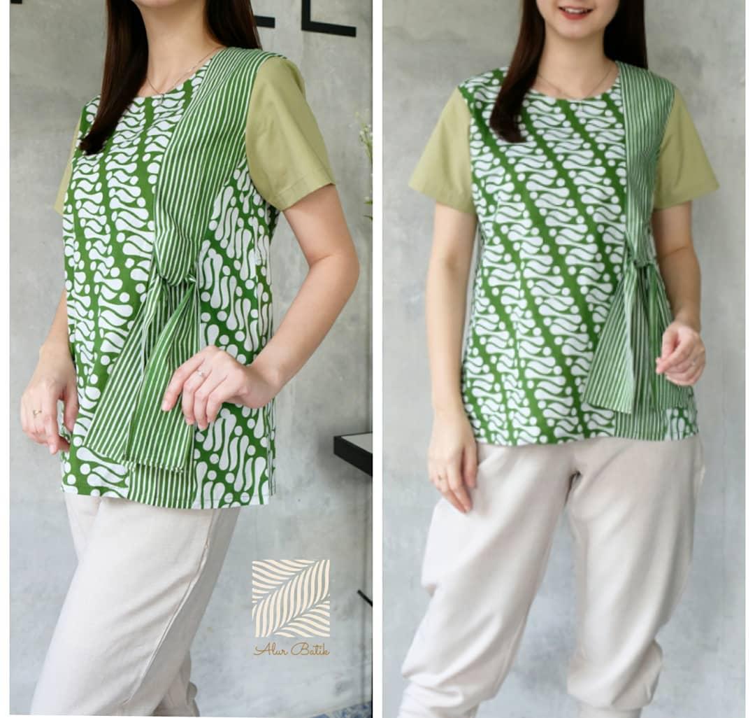 10 Model Baju Batik Muslim Atasan Wanita Terbaru 2018: 48+ Model Baju Batik Atasan Wanita Terbaru 2019