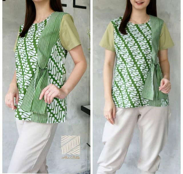 Model Batik Kerja Santai: 48+ Model Baju Batik Atasan Wanita Terbaru 2019