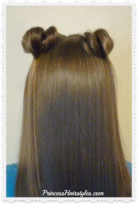 Easy space buns video tutorial. No bobby pins method.