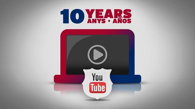 El Barça cumple diez años en Youtube