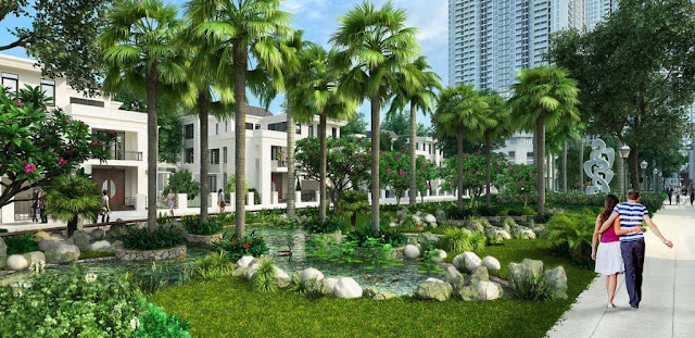 Không gian xanh tại chung cư Pd Green Park