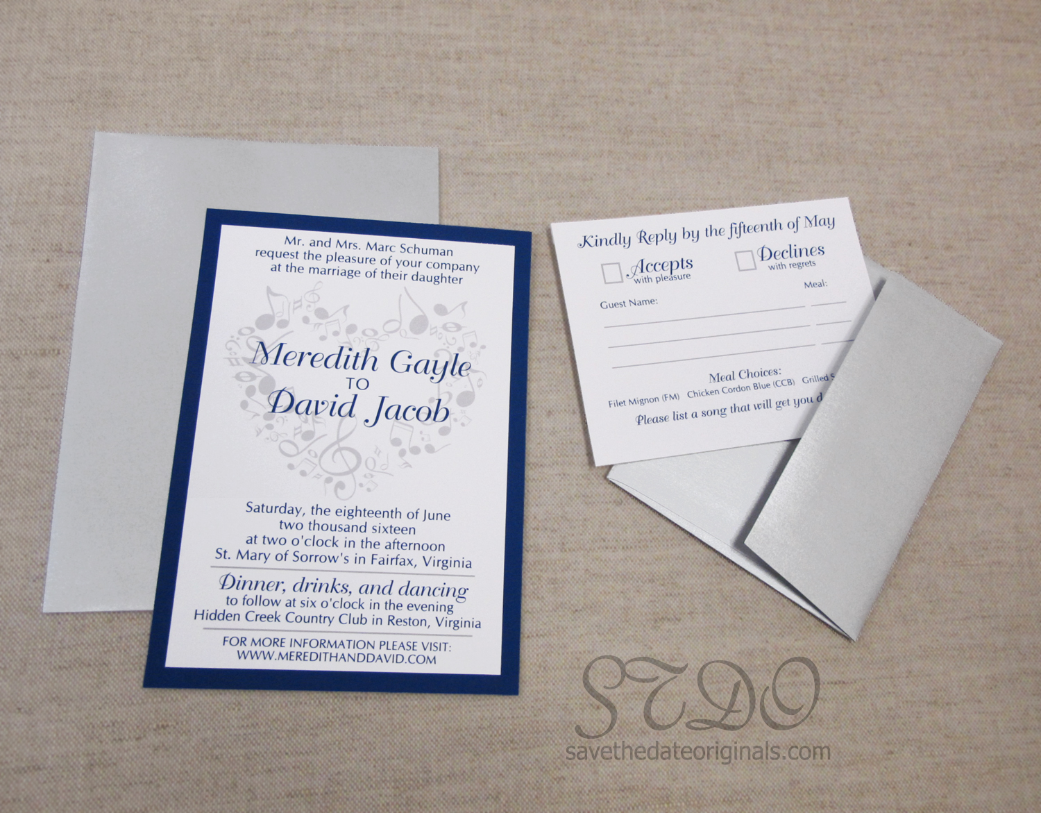 One Of My Favorite Projects Recently Was A Wedding Invitation With Heart In The Background That Made Out Musical Notes