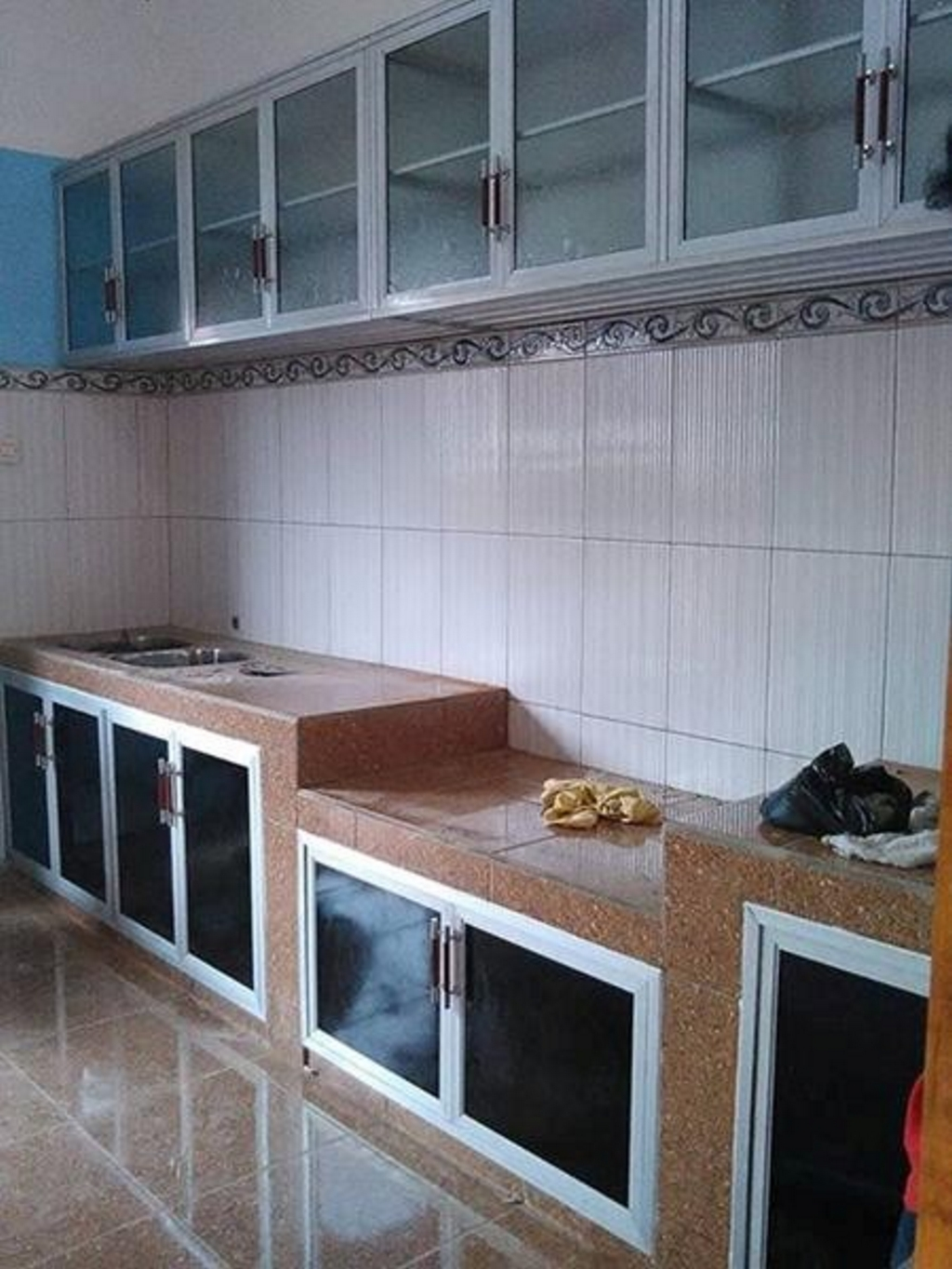 kitchen set bahan aluminium 4