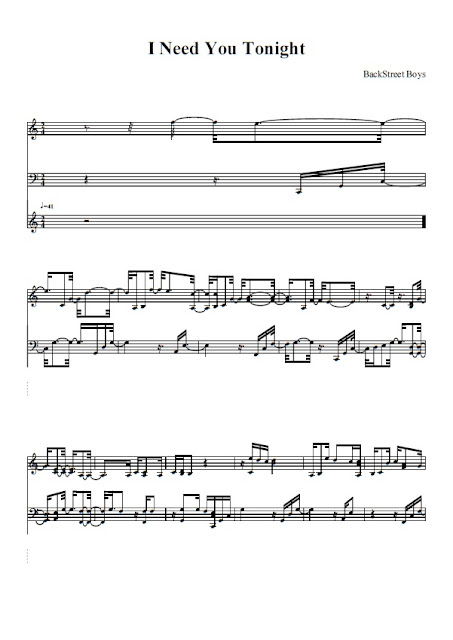 Partitura Piano Backstreet Boys