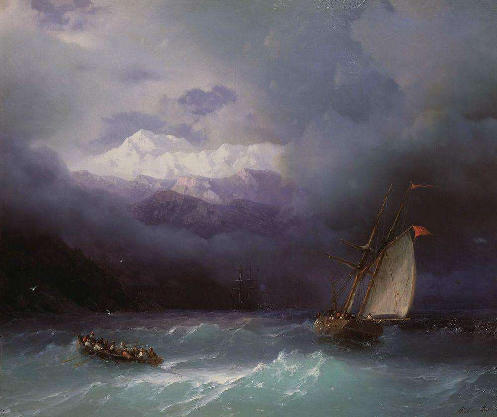 13-Stormy-Sea-1868-Ivan-K-Aivazovsky-Иван-К-Айвазовский-Paintings-of-the-Sea-from-1840-to-1900-www-designstack-co