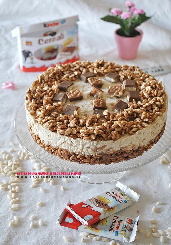Dolci fatti in casa torta ai Kinder Cereali