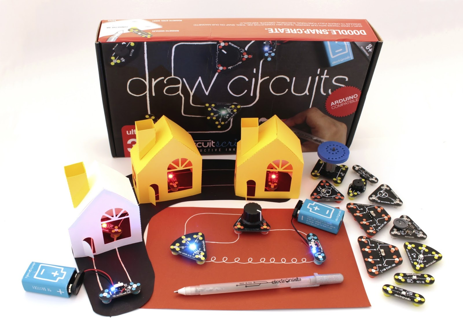 Shard Labs Review Circuit Scribe Basic Kit The Contains A Pen What Is To Put It Shortly Its Rollerball That Writes With Conductive Silver Ink Limited Editon 24k Gold Not Coming Soon