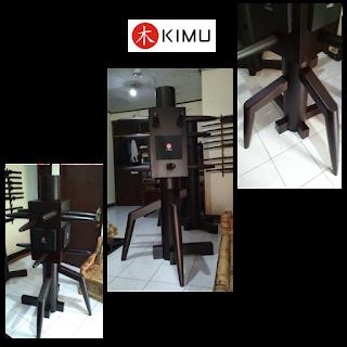 Jual mok yan jong - wooden dummy - manusia kayu putar KIMU wing chun