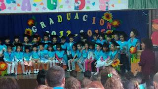 Ceremonia graduación infantil colegio fuentes blancas burgos