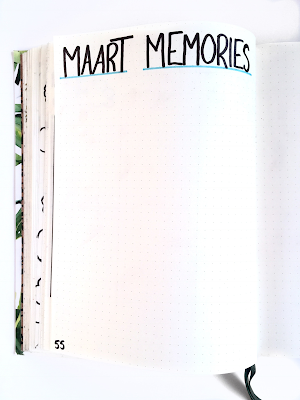 Bullet Journal Maart memories