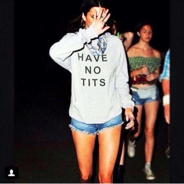 Kendall Jenner HAVE NO TITS shirt  PYGEAR.COM
