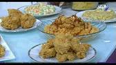 طريقة عمل لدجاج المقرمش و أرز بصوص الباربكيو و سلطة كول
