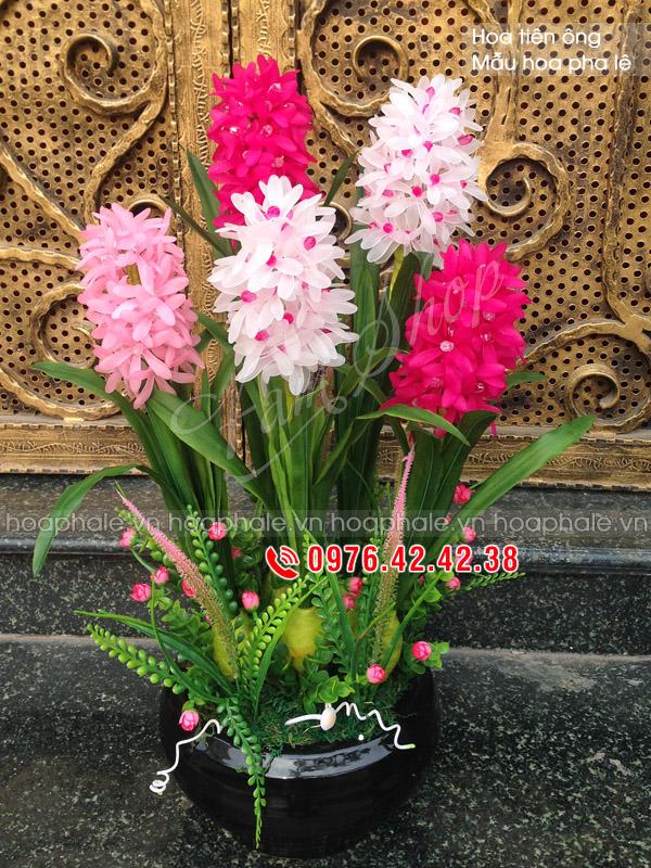 Hoa pha lê hoa tiên ông hồng trắng - hoa đá pha lê