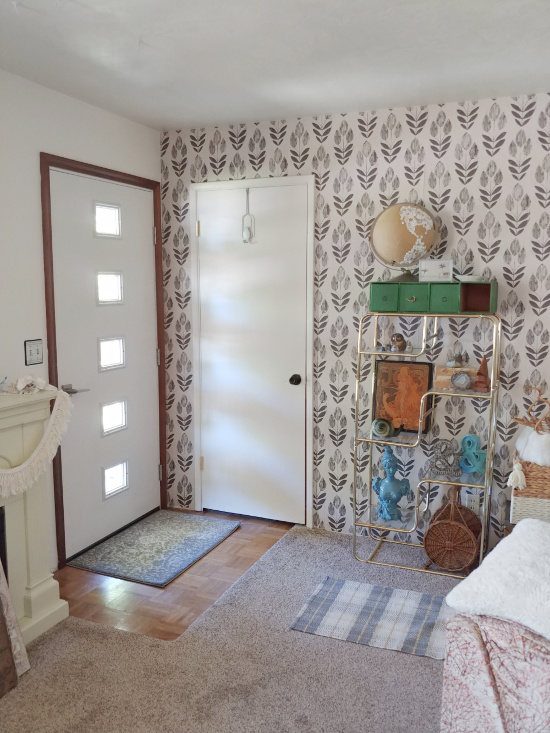 Living Room Makeover - Wallpaper & a New Front Door
