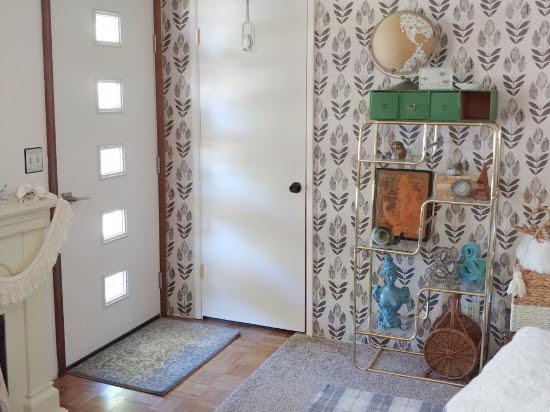 Living Room Makeover - Wallpaper & a New Front Door