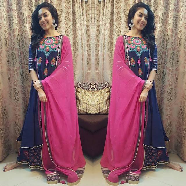 Ritu Varma Embroidery Salwar