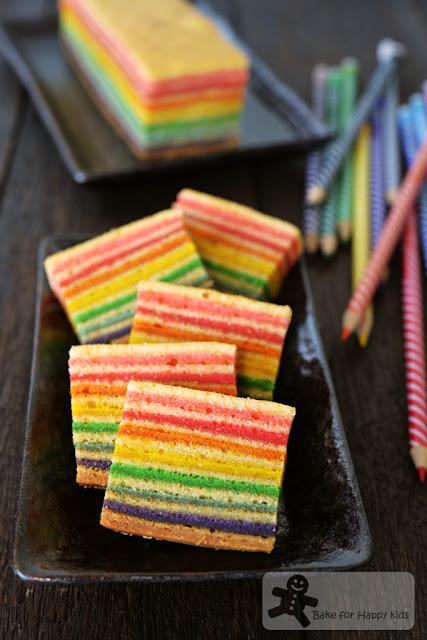 rainbow kek lapis legit spekkoek Indonesian layer cake