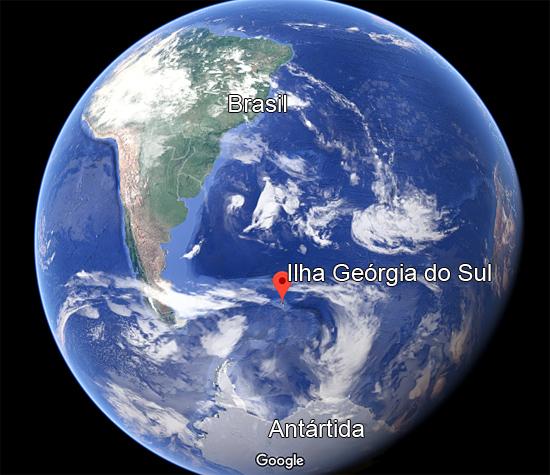 Ilha Geórgia do Sul - localização Mapa