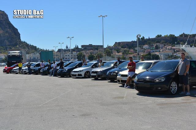 Στο Ναύπλιο οι Golf Maniacs με τα αγαπημένα τους αυτοκίνητα